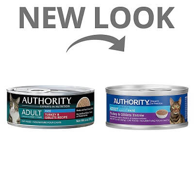Authority Turkey & Giblets Entrée Adult Pate Canned Food