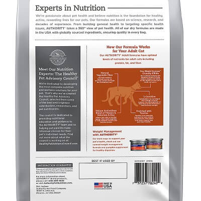 Authority Hairball Control & Weight Management Chicken & Rice Adult Dry Food
