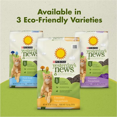 Yesterday's News Softer Texture Unscented Non-Clumping Paper Cat Litter