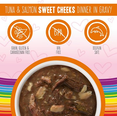 WERUVA B.F.F. Omg! Tuna & Salmon Sweet Cheeks Dinner in Gravy Pouches