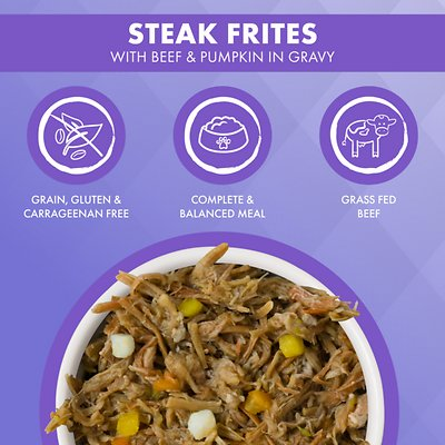 Weruva Truluxe Steak Frites with Beef & Pumpkin in Gravy Grain-Free Canned Cat Food