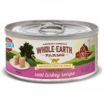 Whole Earth Farms Grain-Free Real Turkey Pate Recipe Canned Food