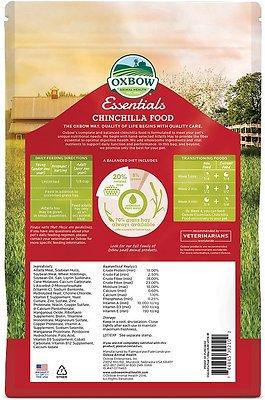 Oxbow Essentials Chinchilla Deluxe Chinchilla Food