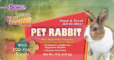 Brown's Tropical Carnival Gourmet Rabbit Food