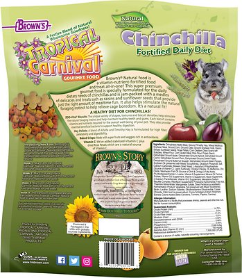 Brown's Tropical Carnival Natural Fortified Daily Diet Chinchilla Food