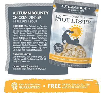 Soulistic Originals Autumn Bounty Chicken Dinner in Pumpkin Soup Pouches