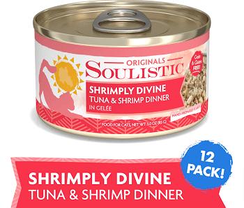 Soulistic Originals Shrimply Divine Tuna & Shrimp Dinner in Gelee Canned Cat Food