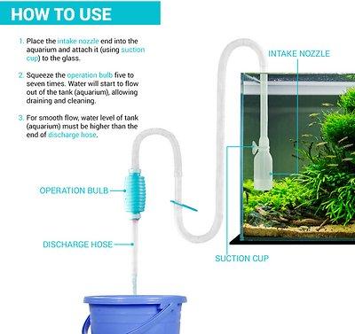 TeraPump Aquarium Gravel & Sand BPA-Free Pump