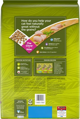 PURINA Cat Chow Naturals Grain-Free with Real Chicken Dry Cat Food