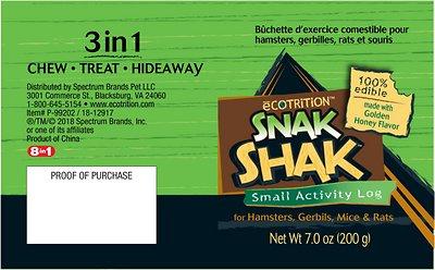eCOTRITION Snak Shak Hamster, Gerbil, Mouse & Rat Activity Log