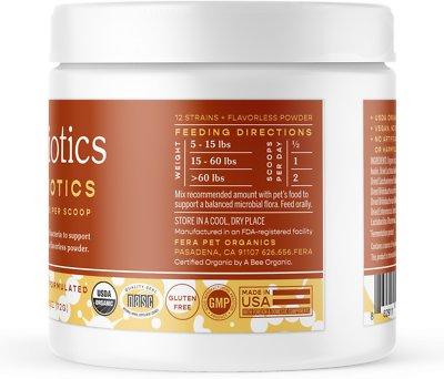 Fera Pet Organics Probiotics with Organic Prebiotics for Dogs & Cats, 72-g