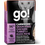 GO! Carnivore Grain-Free Chicken, Turkey + Duck Pate
