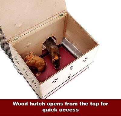 Ferplast Krolik 140 Rabbit Cage & Wood Hutch