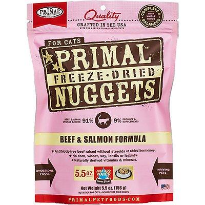 PRIMAL Feline Beef & Salmon Formula Freeze-Dried Nuggets