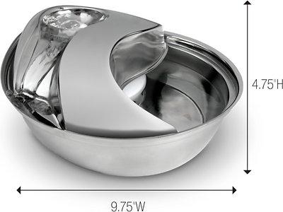 Pioneer Pet Stainless Steel Dog & Cat Fountain Raindrop Design