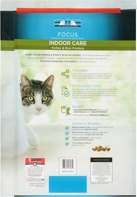 PURINA PRO PLAN Focus Adult Indoor Care Turkey & Rice Formula Dry Cat Food