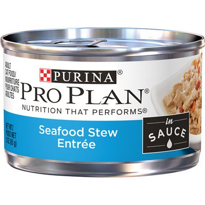 PURINA PRO PLAN Adult Seafood Stew Entrée in Sauce Wet Food
