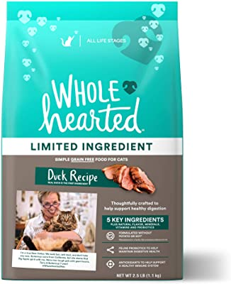 WHOLEHEARTED Grain-Free Limited Ingredient Duck Recipe Dry Food