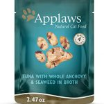 APPLAWS Tuna with Whole Anchovy and Seaweed Cat Pouches