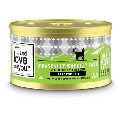 I AND LOVE AND YOU Cat Cans Whascally Wabbit Pate