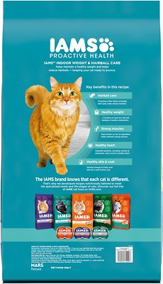 IAMS Proactive Health Adult Indoor Weight & Hairball Care with Chicken & Turkey