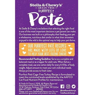 STELLA & CHEWY'S Grain-Free Purrfect Pate Cage-Free Turkey Recipe
