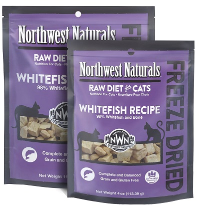 NORTHWEST NATURALS RawNibbles Freeze-Dried Whitefish Recipe Cat Food