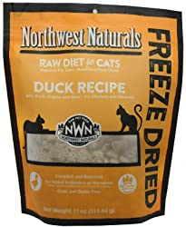 NORTHWEST NATURALS RawNibbles Freeze-Dried Duck Recipe Cat Food